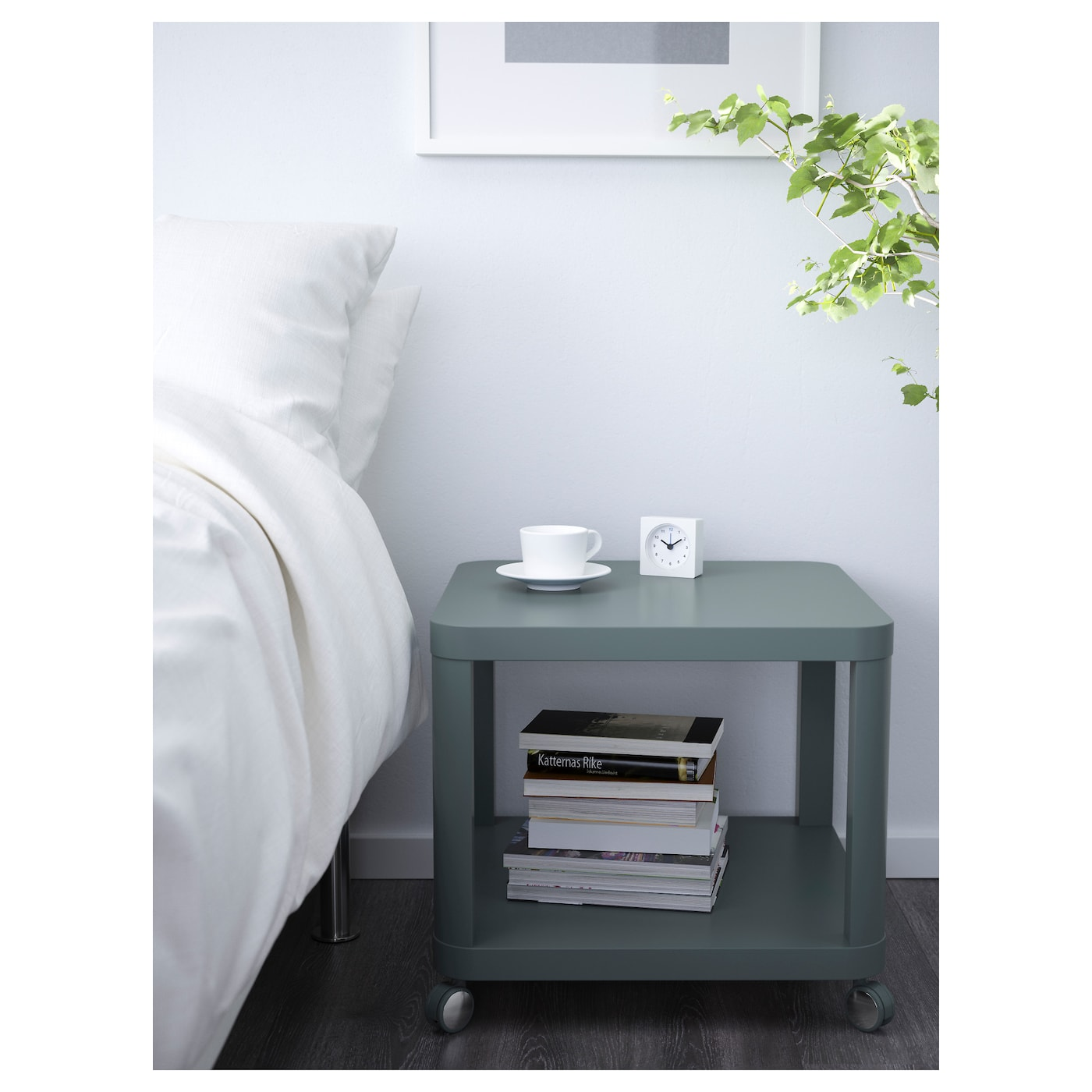 tingby desserte roulante turquoise 50x50 cm ikea. Black Bedroom Furniture Sets. Home Design Ideas