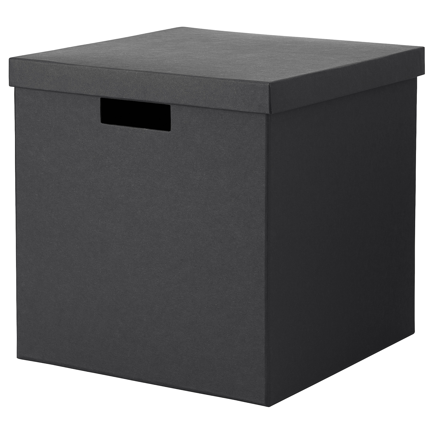 tjena bo te de rangement avec couvercle noir 30x30x30 cm. Black Bedroom Furniture Sets. Home Design Ideas