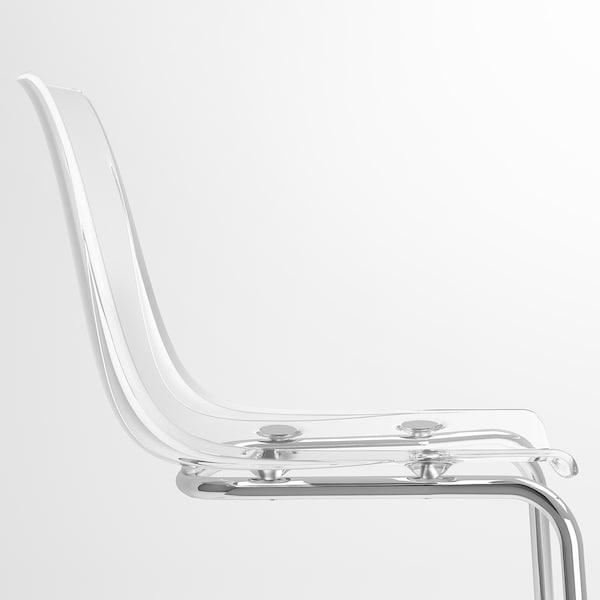 TOBIAS Chaise, transparent/chromé