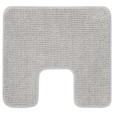 TOFTBO Tapis contour de WC, blanc gris mélange, 55x60 cm