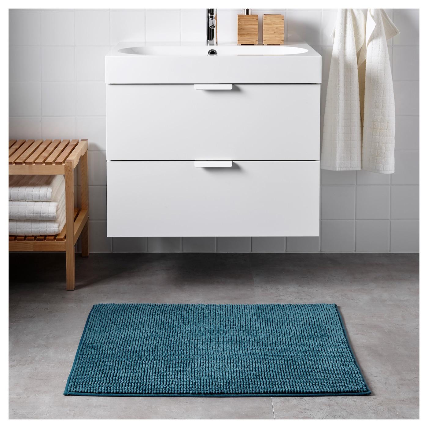 toftbo tapis de bain vert bleu 60x90 cm ikea. Black Bedroom Furniture Sets. Home Design Ideas