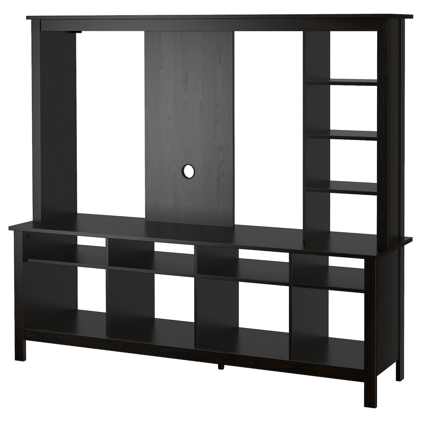tomn s meuble tv brun noir 183x48x163 cm ikea. Black Bedroom Furniture Sets. Home Design Ideas