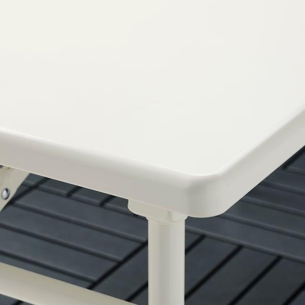 TORPARÖ Table, extérieur, blanc/pliable, 130x74 cm