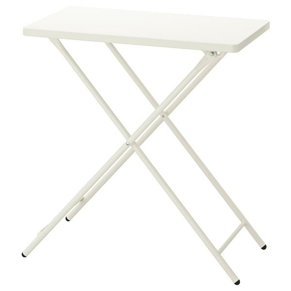 TORPARÖ Table, intérieur/extérieur, blanc/pliable, 70x42 cm
