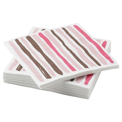 TORRAST Serviettes en papier, rose, 33x33 cm