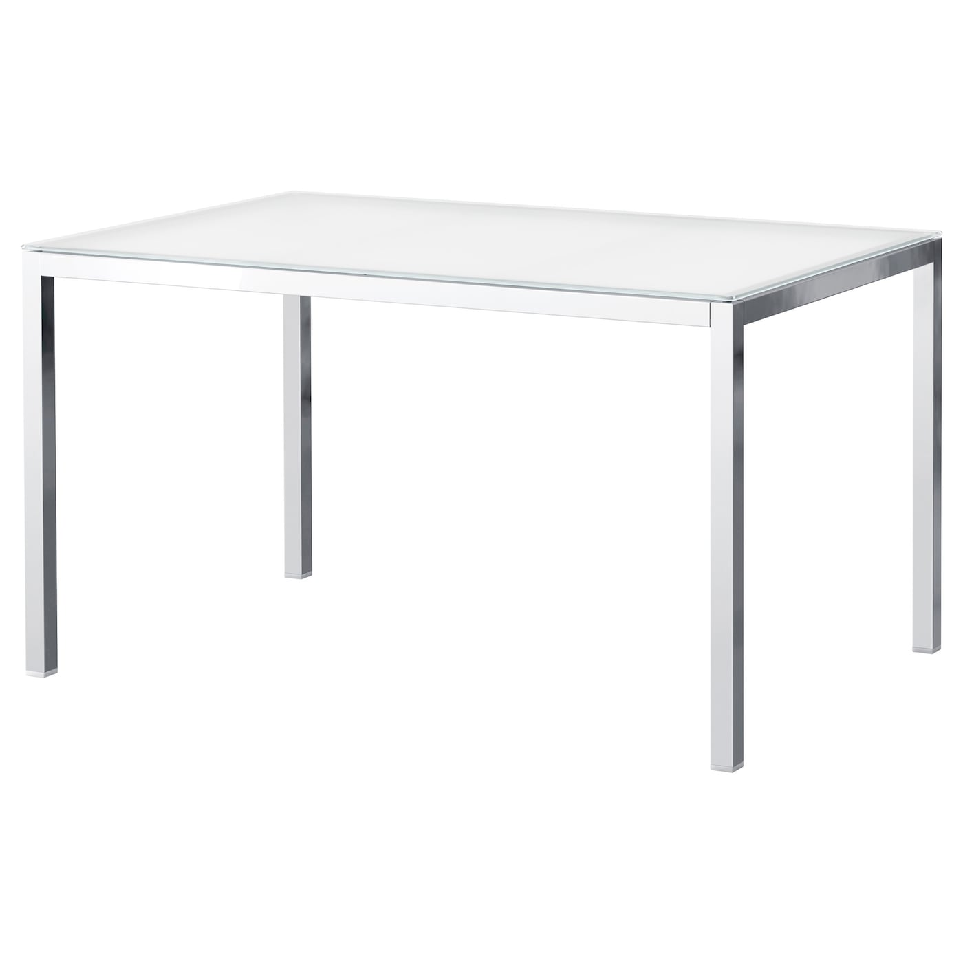 torsby table chrom verre blanc 135x85 cm ikea. Black Bedroom Furniture Sets. Home Design Ideas