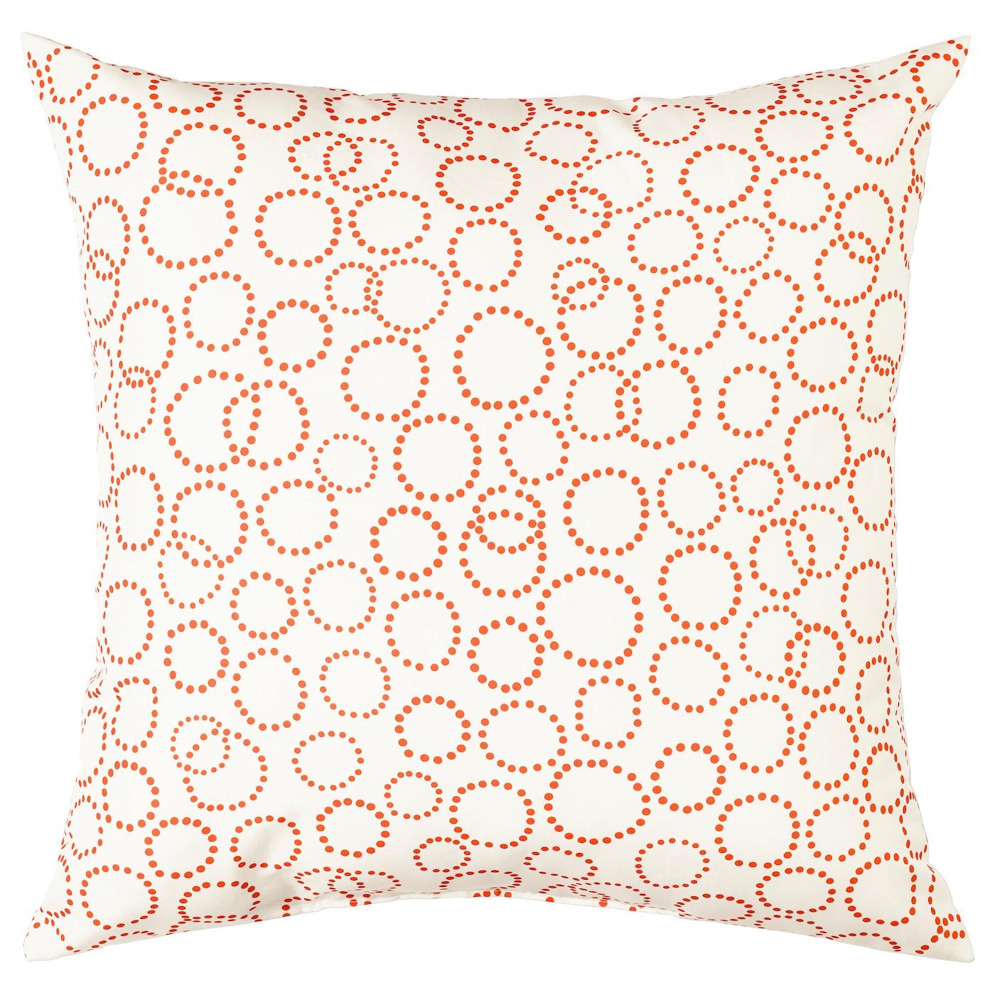 tr daster coussin blanc orange 40x40 cm ikea. Black Bedroom Furniture Sets. Home Design Ideas
