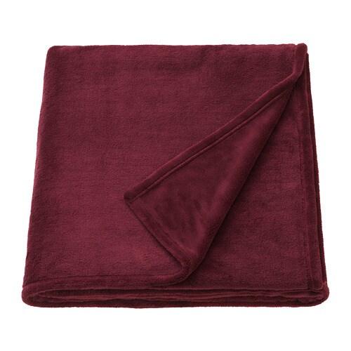 TRATTVIVA Couvre lit Rouge foncé 150 x 250 cm   IKEA