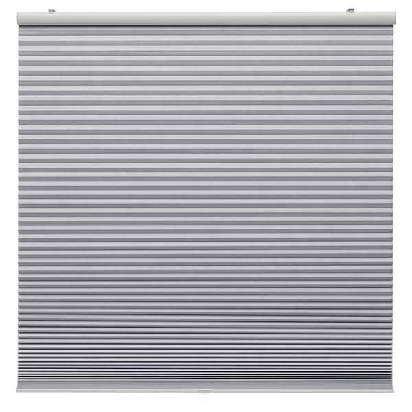 TRIPPEVALS Store occultant plissé, gris clair, 100x195 cm