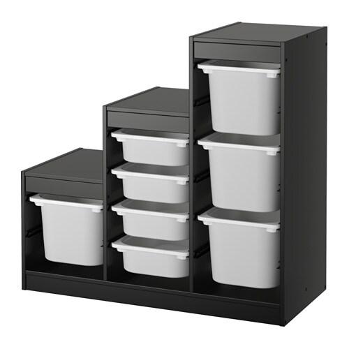 Trofast Combinaison De Rangement Noir Blanc 99 X 44 X 94 Cm Ikea