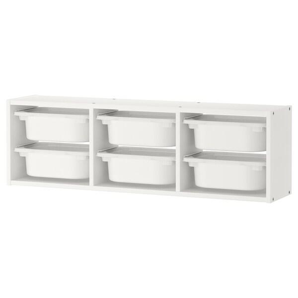 Trofast Rangement Mural Blanc Blanc 99x21x30 Cm Ikea