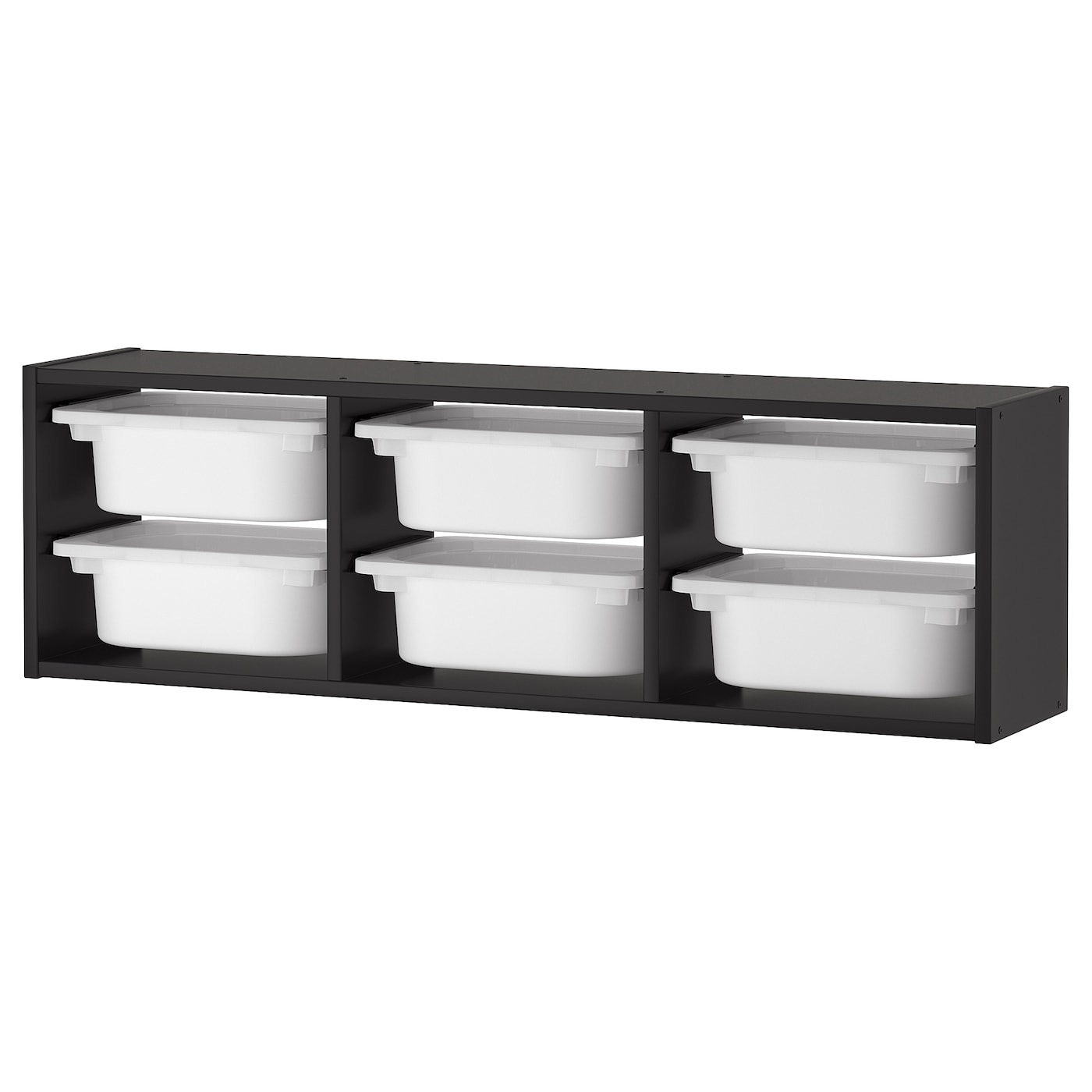trofast rangement mural noir blanc 99 x 21 x 30 cm ikea. Black Bedroom Furniture Sets. Home Design Ideas