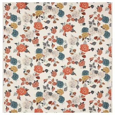 TROLLMAL Tissu au mètre, naturel/motif à fleurs, 150 cm