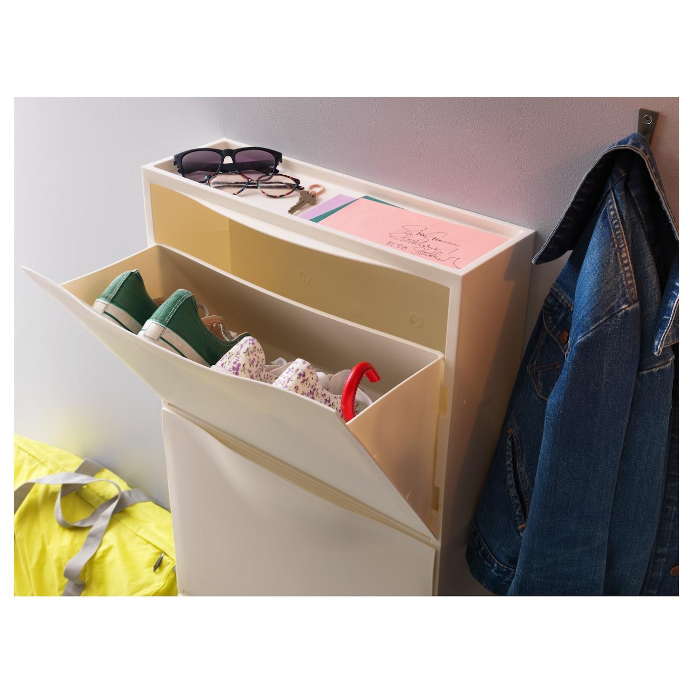 trones armoire chaussures rangement blanc 51x39 cm ikea. Black Bedroom Furniture Sets. Home Design Ideas