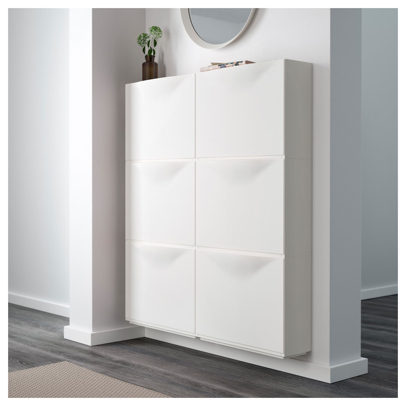 trones armoire chaussures rangement blanc 51x39 cm ikea. Black Bedroom Furniture Sets. Home Design Ideas