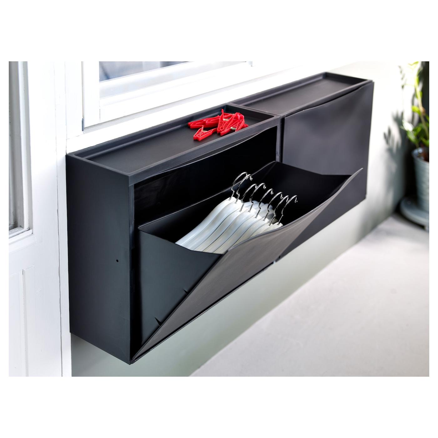 Trones armoire chaussures rangement noir 51x39 cm ikea - Rangement armoire ikea ...