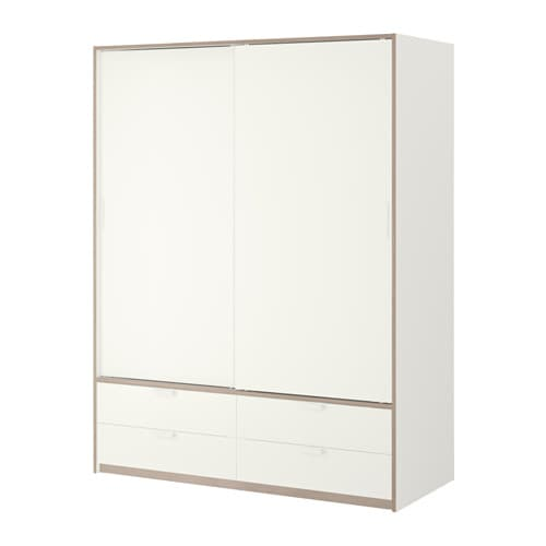 TRYSIL Armoire portes couliss/4tiroirs