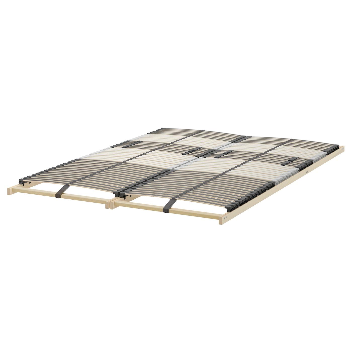 Trysil cadre de lit blanc leirsund 160x200 cm ikea for Ikea taille du cadre de lit