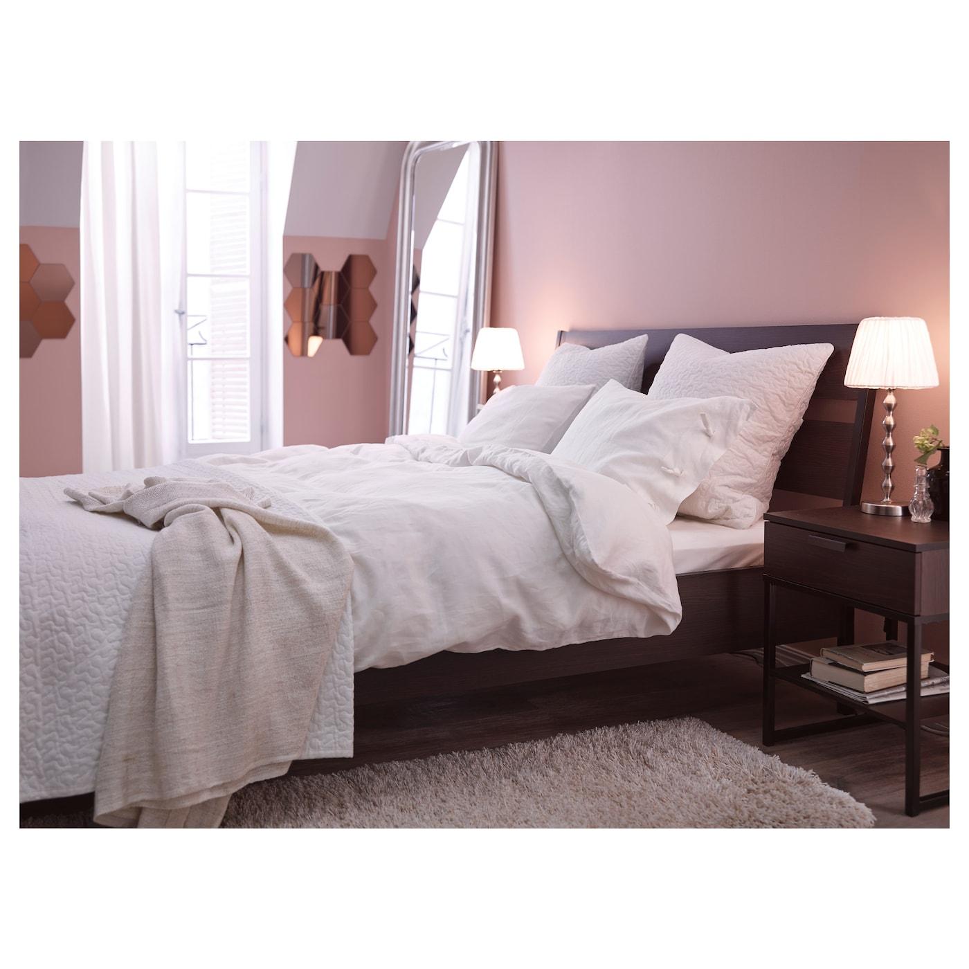 trysil cadre de lit brun fonc noir 160x200 cm ikea. Black Bedroom Furniture Sets. Home Design Ideas