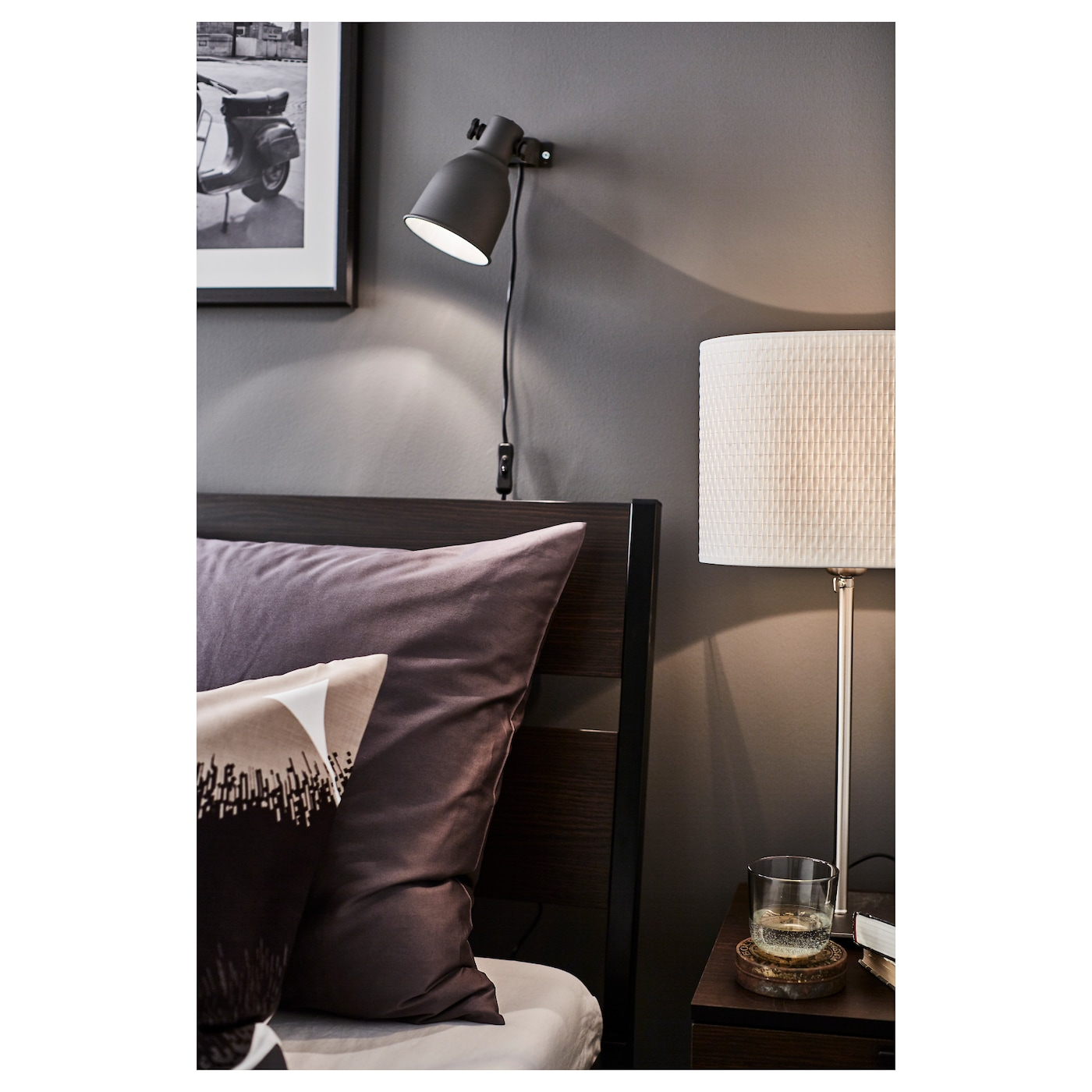 Trysil cadre de lit brun fonc noir 160 x 200 cm ikea - Cadre de lit ikea ...