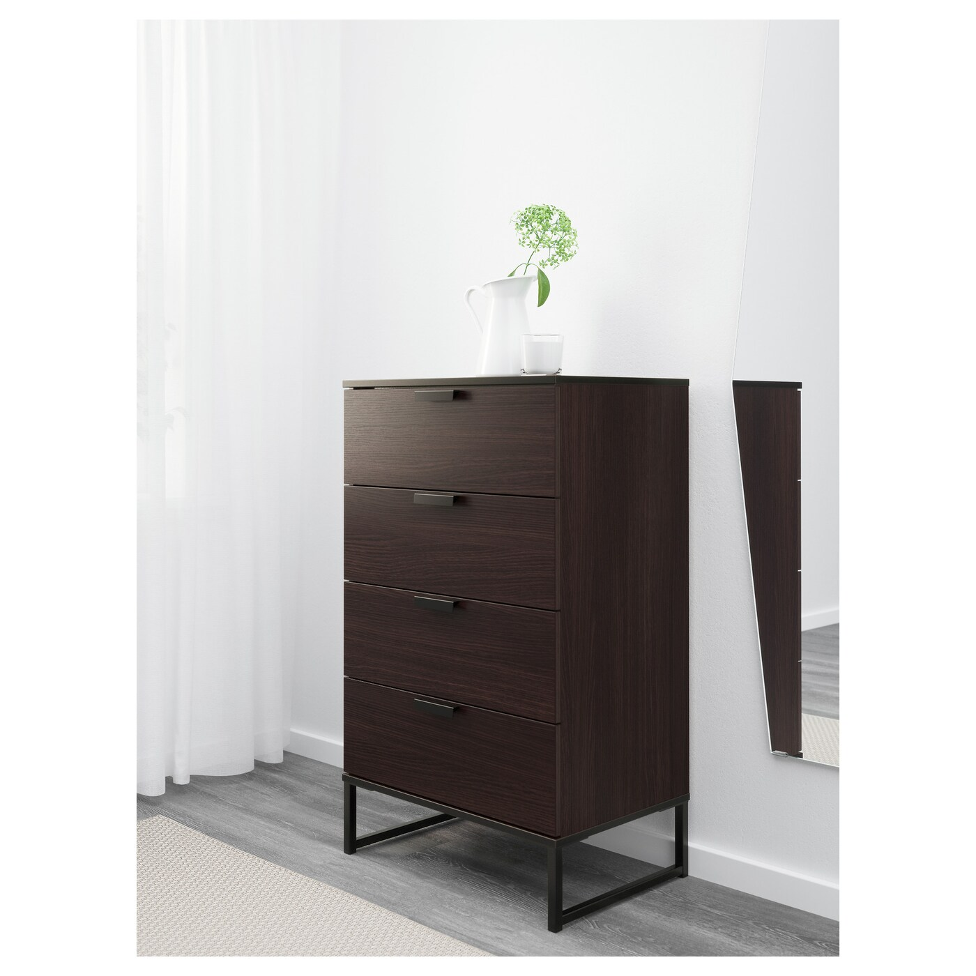 trysil commode 4 tiroirs brun fonc 60x99 cm ikea. Black Bedroom Furniture Sets. Home Design Ideas