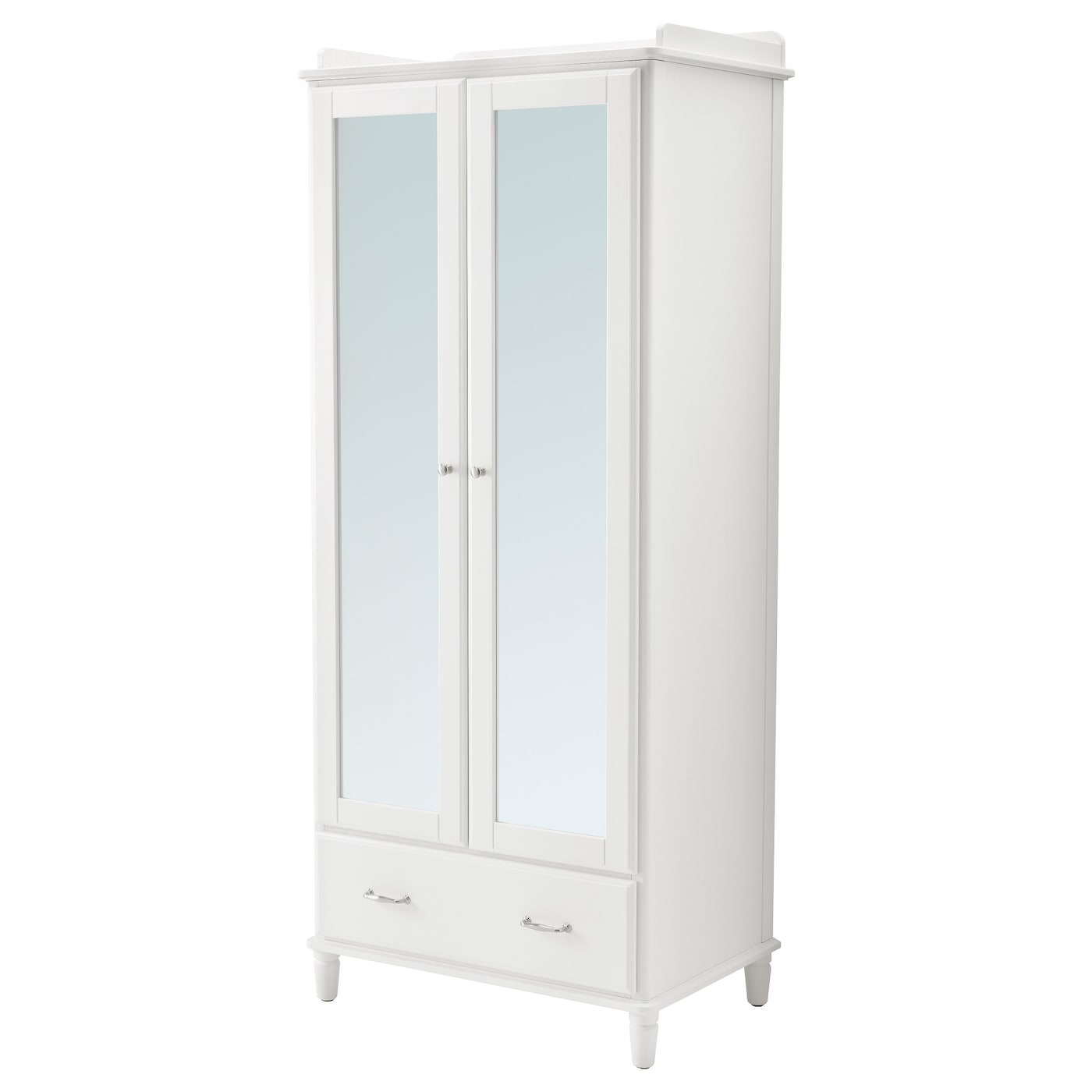 tyssedal armoire blanc miroir 88x58x208 cm ikea. Black Bedroom Furniture Sets. Home Design Ideas