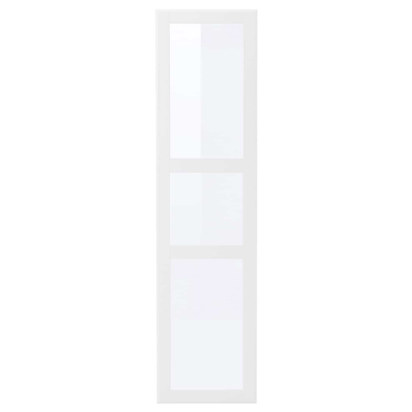 tyssedal porte blanc verre 50x195 cm ikea. Black Bedroom Furniture Sets. Home Design Ideas