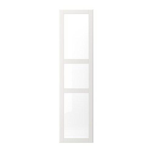 tyssedal porte blanc verre 50 x 195 cm ikea. Black Bedroom Furniture Sets. Home Design Ideas