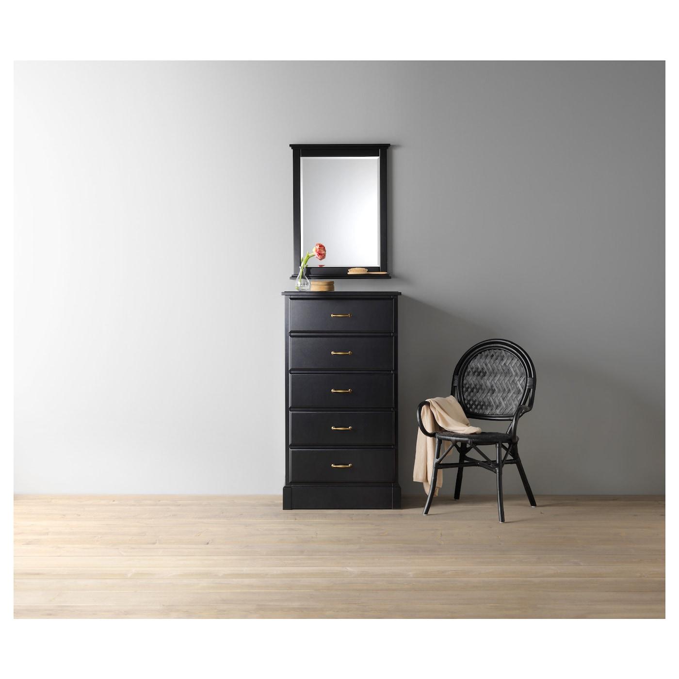 undredal commode 5 tiroirs noir 67x122 cm ikea. Black Bedroom Furniture Sets. Home Design Ideas