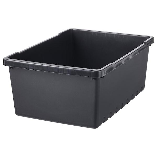 UPPSNOFSAD Boîte de rangement, noir, 35x25x14 cm/9 l