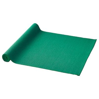 UTBYTT Chemin de table, vert foncé, 35x130 cm