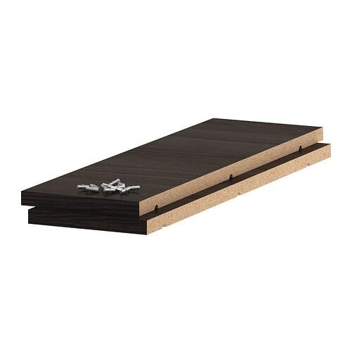 utrusta tablette effet bois noir 20x60 cm ikea. Black Bedroom Furniture Sets. Home Design Ideas