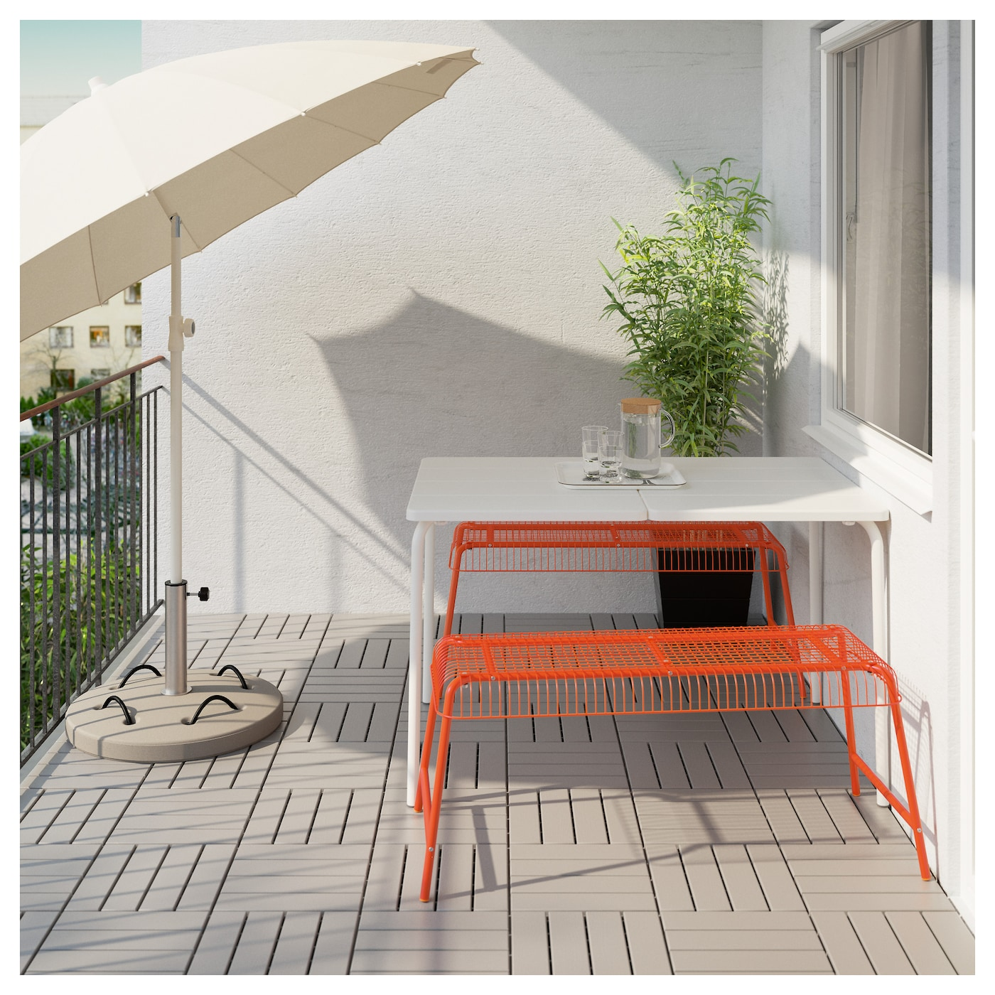 v ster n banc int rieur ext rieur orange ikea. Black Bedroom Furniture Sets. Home Design Ideas