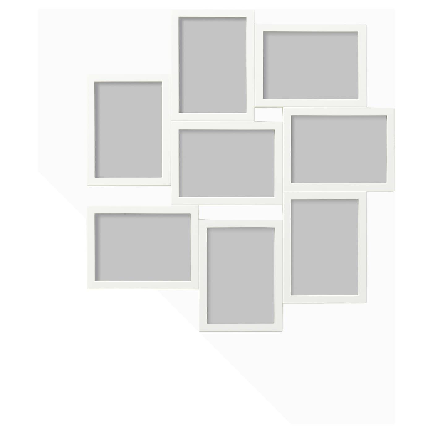 vÄxbo cadre pêle-mêle pour 8 photos blanc 13 x 18 cm - ikea