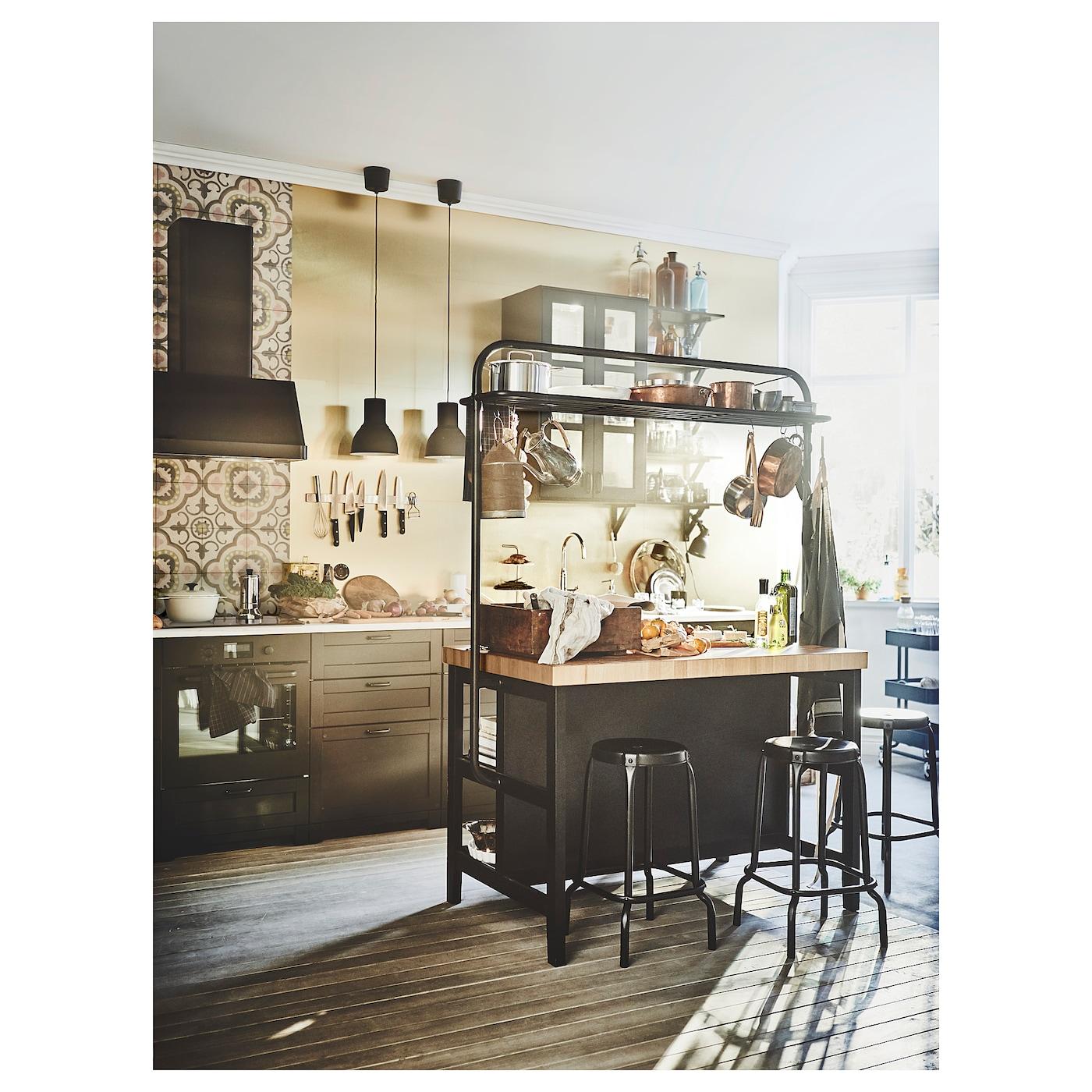 Vadholma lot pour cuisine noir ch ne 126 x 79 x 90 cm ikea for Offre ikea cuisine