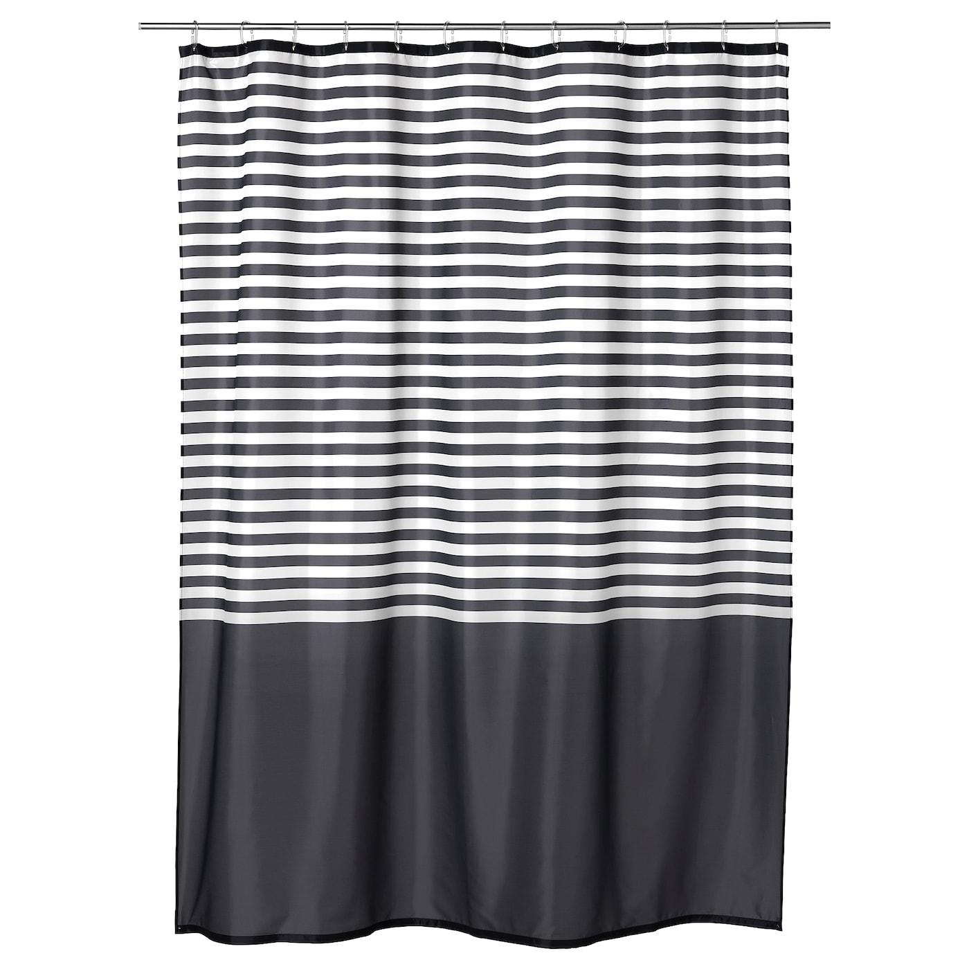 IKEA VADSJON Rideau De Douche Polyester Tisse Serre Avec Revetement Impermeable