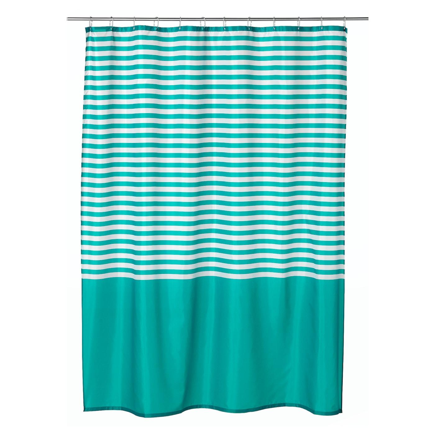 vadsj n rideau de douche turquoise 180 x 200 cm ikea. Black Bedroom Furniture Sets. Home Design Ideas