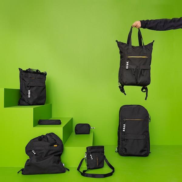 VÄRLDENS Pochette pour accessoires, noir, 21x4x4 cm