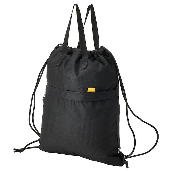 VÄRLDENS Sac de sport, noir, 38x49 cm/15 l