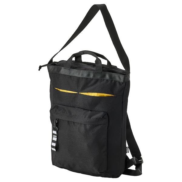 VÄRLDENS Tote bag de voyage, noir, 28x12x44 cm/16 l