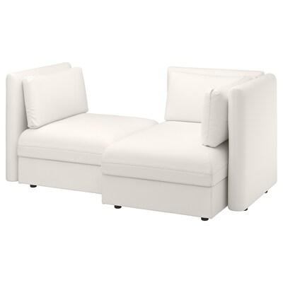 VALLENTUNA canapé modulaire, 2 places avec rangement/Murum blanc 186 cm 113 cm 84 cm 100 cm 160 cm 45 cm