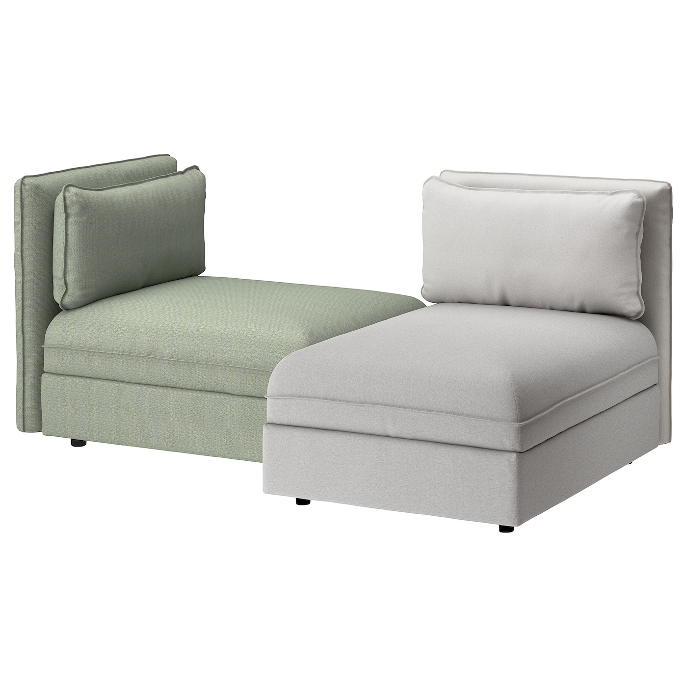 vallentuna canap 2 places orrsta gris clair hillared vert ikea. Black Bedroom Furniture Sets. Home Design Ideas