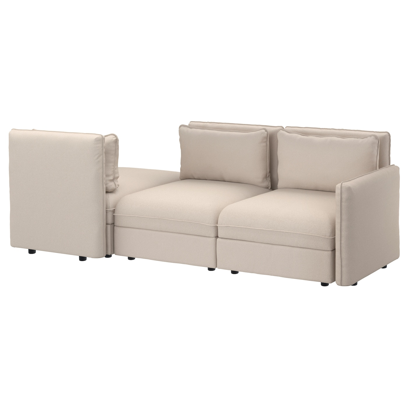 Vallentuna canap 3 places couch orrsta beige ikea for Canape 3 places ikea