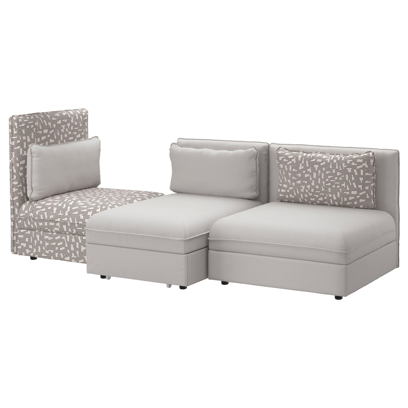 vallentuna canap 3 places couch orrsta gris clair. Black Bedroom Furniture Sets. Home Design Ideas