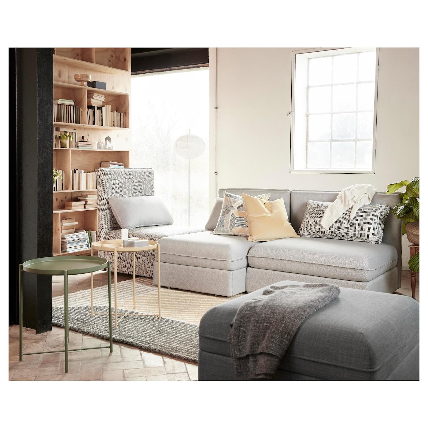 vallentuna canap 3 places orrsta gris clair funnarp noir beige ikea. Black Bedroom Furniture Sets. Home Design Ideas