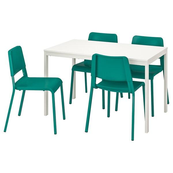 Table blancvert 4 et VANGSTA TEODORES chaises FJclTK1