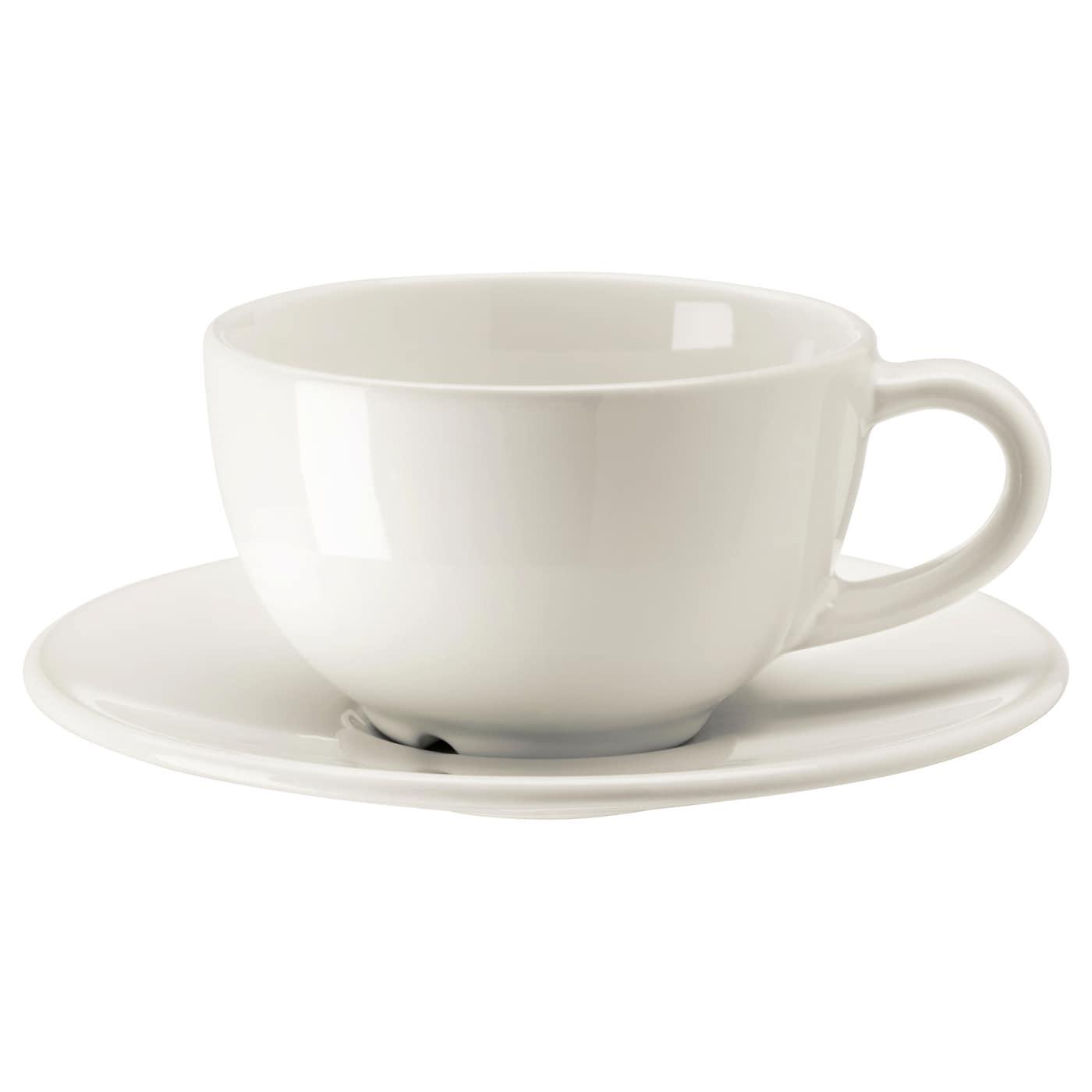 vardagen tasse caf et soucoupe blanc cass 14 cl ikea. Black Bedroom Furniture Sets. Home Design Ideas