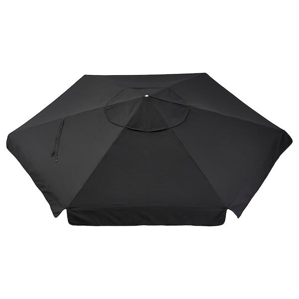 VÅRHOLMEN Toile de parasol, gris foncé, 300 cm