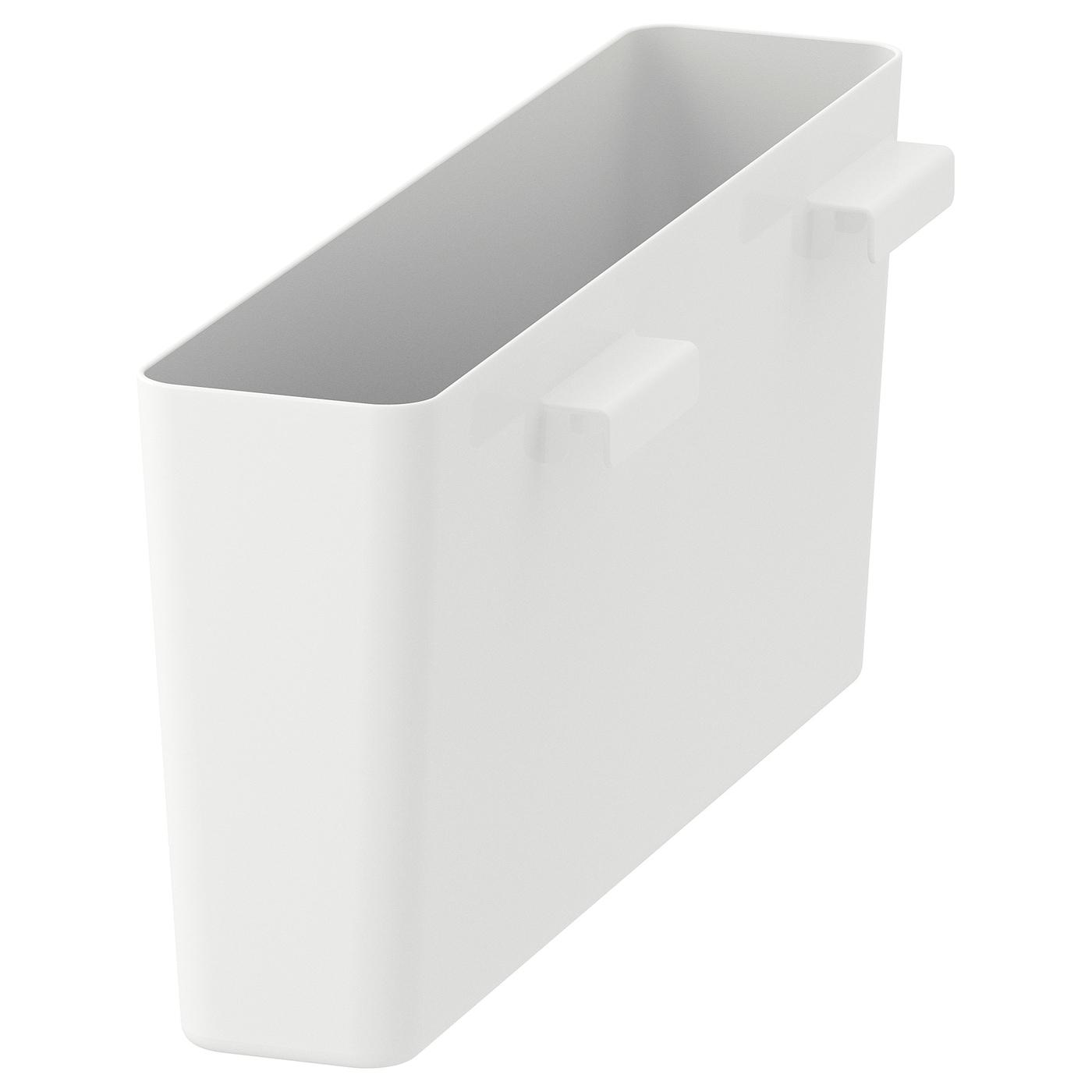 variera boîte de rangement brillant/blanc 50 x 12 cm - ikea