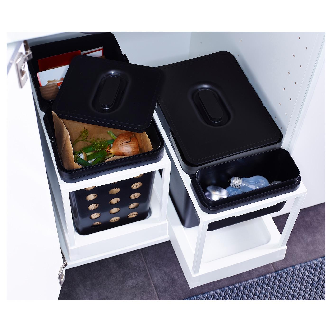 variera poubelle de tri noir 18 l ikea. Black Bedroom Furniture Sets. Home Design Ideas